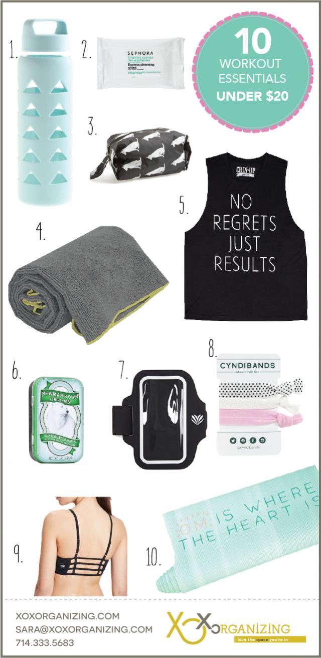 10 workout essentials under 20 v2