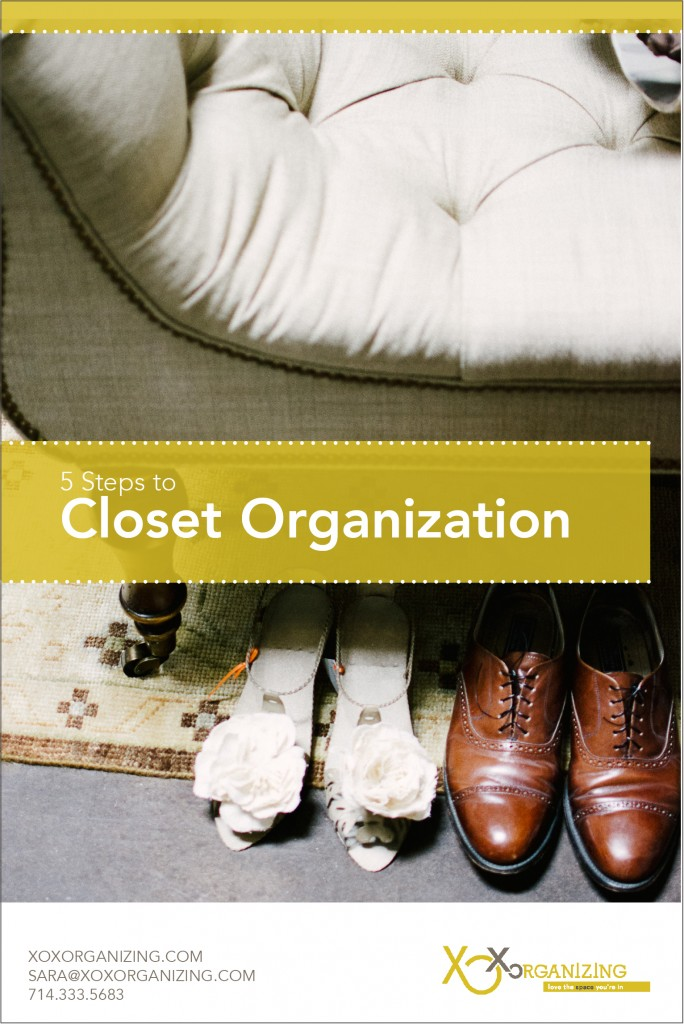 Blog Graphics - 5 Steps to Closet Organization